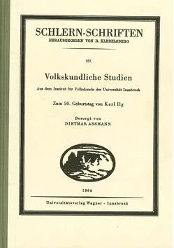 Volkskundliche Studien von Assmann,  Dietmar