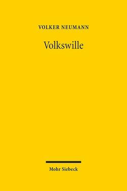 Volkswille von Neumann,  Volker
