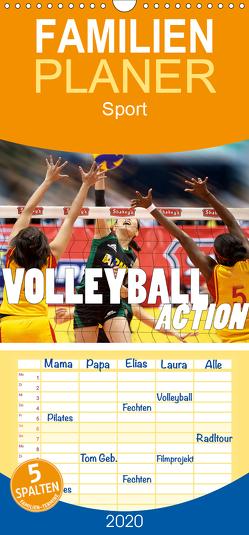 Volleyball Action – Familienplaner hoch (Wandkalender 2020 , 21 cm x 45 cm, hoch) von Robert,  Boris