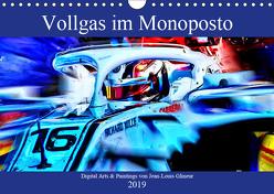 Vollgas im Monoposto – Digital Arts & Paintings von Jean-Louis Glineur (Wandkalender 2019 DIN A4 quer) von Glineur,  Jean-Louis
