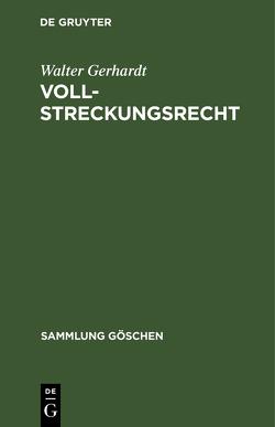 Vollstreckungsrecht von Gerhardt,  Walter