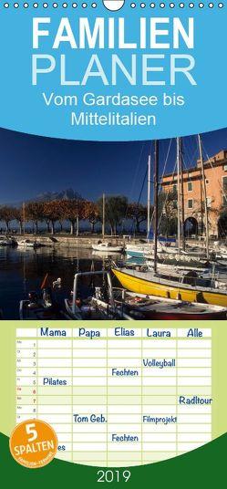 Vom Gardasee bis Mittelitalien – Familienplaner hoch (Wandkalender 2019 , 21 cm x 45 cm, hoch) von Janka,  Rick