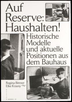 Auf Reserve: Haushalten! von Bittner,  Regina, Krasny,  Elke, Pannet,  Ondine, Voss,  David
