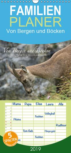 Von Bergen und Böcken – Familienplaner hoch (Wandkalender 2019 , 21 cm x 45 cm, hoch) von Schaefgen,  Matthias