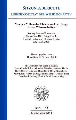 Von den Mühen der Ebenen und der Berge in den Wissenschaften von Kant,  Horst, Pfaff,  Gerhard