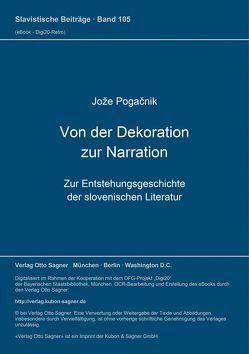 Von der Dekoration zur Narration von Pogacnik,  Jože