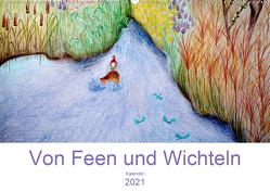 Von Feen und Wichteln (Wandkalender 2021 DIN A2 quer) von Denorme,  Christine