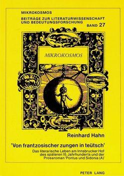 'Von frantzosischer zungen in teütsch' von Hahn,  Reinhard