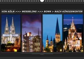 Von Köln nach Königswinter (Wandkalender 2021 DIN A3 quer) von Bonn,  BRASCHI