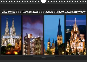 Von Köln nach Königswinter (Wandkalender 2021 DIN A4 quer) von Bonn,  BRASCHI