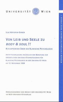 Von Leib und Seele zu Body & Soul von Kryspin-Exner,  Ilse