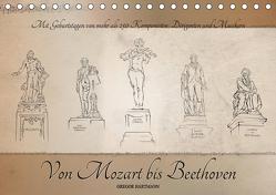 Von Mozart bis Beethoven (Tischkalender 2019 DIN A5 quer) von Hartmann,  Gregor