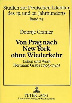 Von Prag nach New York ohne Wiederkehr von Cramer-Scharnagl,  Doortje