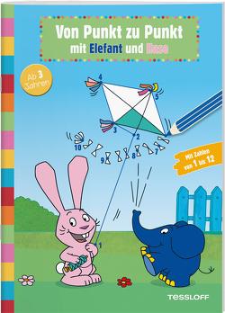 Von Punkt zu Punkt mit Elefant und Hase von Baier,  Katja