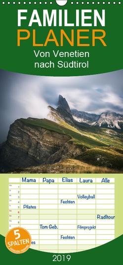 Von Venetien nach Südtirol – Familienplaner hoch (Wandkalender 2019 , 21 cm x 45 cm, hoch) von Claude Castor I 030mm-photography,  Jean