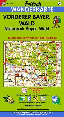 Vorderer Bayerischer Wald von Fritsch Landkartenverlag
