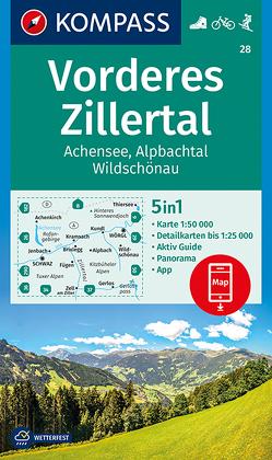 Vorderes Zillertal, Achensee, Alpbachtal, Wildschönau von KOMPASS-Karten GmbH