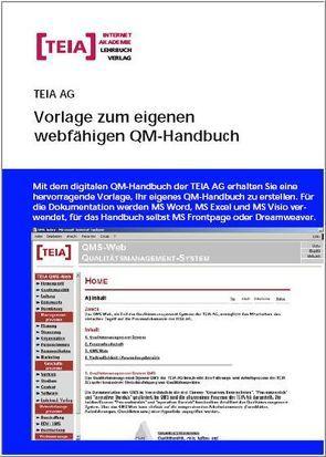 Vorlage zum eigenen webfähigen QM-Handbuch von Hunger,  Lutz