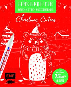 Vorlagenmappe Fensterbilder malen mit dem Kreidemarker – Christmas Cuties