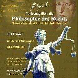 Vorlesung über die Philosophie des Rechts 1819/20 von G.W.F.Hegel (Hörbuch, 9 Audio-CDs) von Grimsmann,  Martin, Hansen,  Lutz, Hegel,  Georg W F