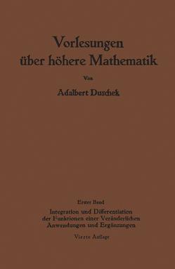 Vorlesungen über höhere Mathematik von Duschek,  Adalbert