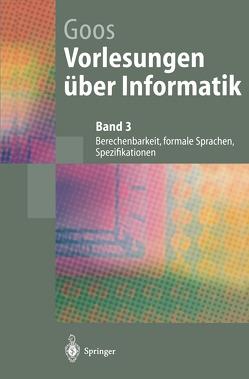Vorlesungen über Informatik von Goos,  Gerhard