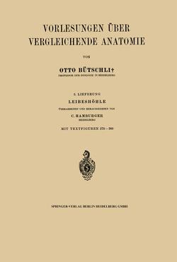Vorlesungen über Vergleichende Anatomie von Hamburger,  NA