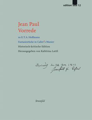 Vorrede zu E.T.A. Hoffmann 'Fantasiestücke in Callot's Manier' von Jean Paul, Latifi,  Kalterina