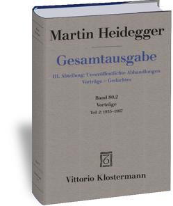 Vorträge von Heidegger,  Martin, Neumann,  Günther