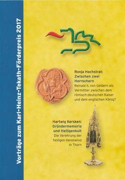 Vorträge zum Karl-Heinz-Tekath-Förderpreis 2017 von Halmanns,  Gerd, Hochstrat,  Ronja, Kersken,  Hartwig, Sturm,  Beate, van Gemert,  Guillaume