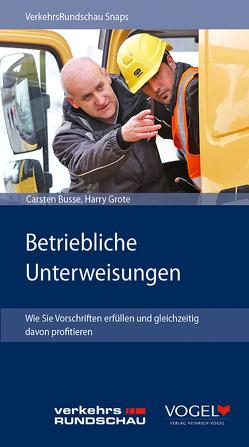 """VR-Snap """"Betriebliche Unterweisungen"""" von Busse,  Carsten, Grote,  Harry"""
