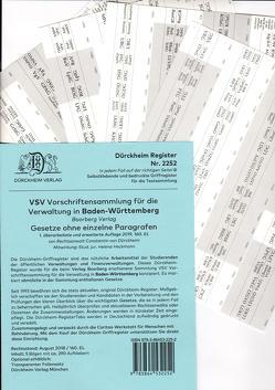 VSV Baden-Württemberg Dürckheim-Griffregister Nr. 2252 (2019) von Dürckheim,  Constantin, Heckmann,  Helena