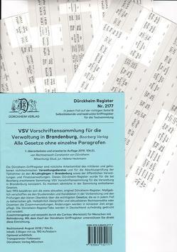 VSV Brandenburg Dürckheim-Griffregister Nr. 2177 (2019) von Dürckheim,  Constantin, Heckmann,  Helena