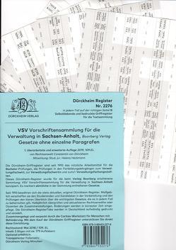 VSV Sachsen-Anhalt Dürckheim-Griffregister Nr. 2276 (2019) von Dürckheim,  Constantin, Heckmann,  Helena