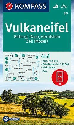 Vulkaneifel, Bitburg, Daun, Gerolstein, Zell (Mosel) von KOMPASS-Karten GmbH