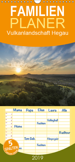 Vulkanlandschaft Hegau – Familienplaner hoch (Wandkalender 2019 , 21 cm x 45 cm, hoch) von Keller,  Markus
