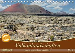 Vulkanlandschaften – Aus Lava und Asche modelliert (Tischkalender 2019 DIN A5 quer) von Gärtner,  Oliver
