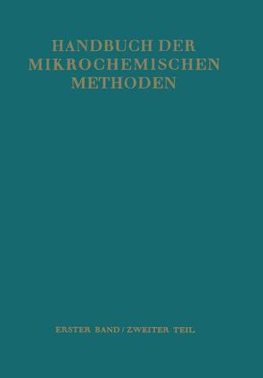 Waagen und Geräte zur Anorganischen Mikro-Gewichtsanalyse von Hecht,  Friedrich