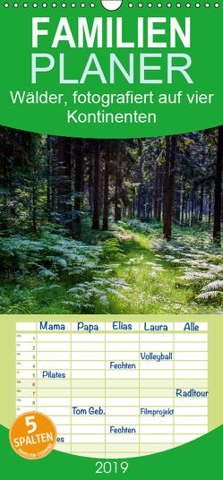 Wälder, fotografiert auf vier Kontinenten – Familienplaner hoch (Wandkalender 2019 , 21 cm x 45 cm, hoch) von Walliser,  Richard