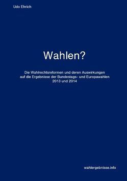 Wahlen? von Ehrich,  Udo