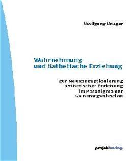 Wahrnehmung und ästhetische Erziehung von Krieger,  Wolfgang