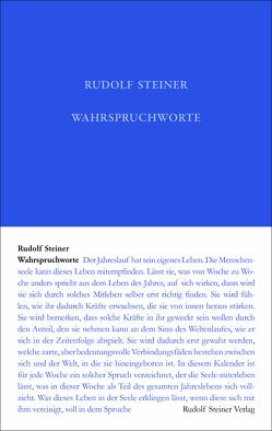 Wahrspruchworte von Rudolf Steiner Nachlassverwaltung, Steiner,  Rudolf
