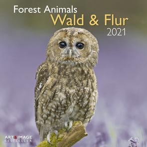 Wald & Flur 2021 – Wand-Kalender – Broschüren-Kalender – A&I – 30×30 – 30×60 geöffnet