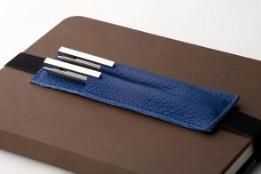 Walden | Stiftetui aus Echtleder | Blau