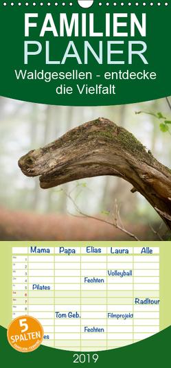 Waldgesellen – entdecke die Vielfalt – Familienplaner hoch (Wandkalender 2019 , 21 cm x 45 cm, hoch) von Losekann,  Holger