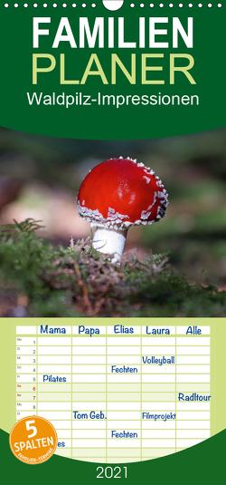 Waldpilz-Impressionen – Familienplaner hoch (Wandkalender 2021 , 21 cm x 45 cm, hoch) von Flori0