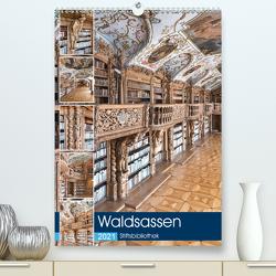 Waldsassen Stiftsbibliothek (Premium, hochwertiger DIN A2 Wandkalender 2021, Kunstdruck in Hochglanz) von Schmidt,  Bodo