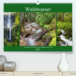 Waldwasser (Premium, hochwertiger DIN A2 Wandkalender 2021, Kunstdruck in Hochglanz) von Klinder,  Thomas