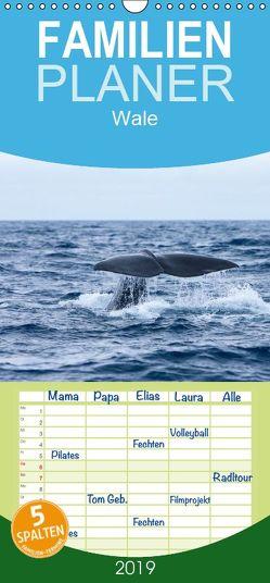 Wale – Familienplaner hoch (Wandkalender 2019 , 21 cm x 45 cm, hoch) von Gulbins,  Helmut