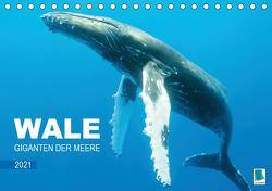 Wale: Giganten der Meere (Tischkalender 2021 DIN A5 quer) von CALVENDO